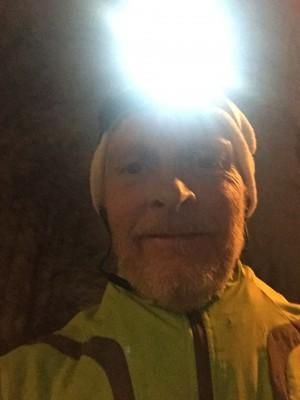 Min första selfie tagen på årets första joggingrunda